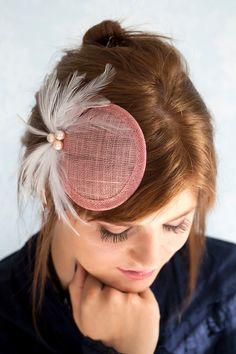 Powder Rose cocktail hat