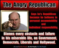 The angry republician . . .repeatedly voting against his own interests