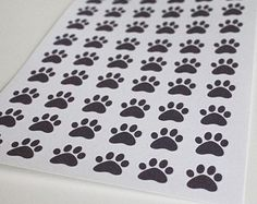 54 Paw Print Stickers Life Planner Stickers Scrapbook Stickers Pet Stickers Dog Stickers Cat Stickers