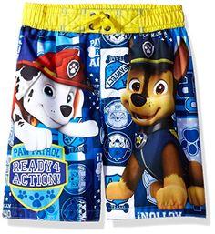 5a294b8d71 Nickelodeon Big Boys' Paw Patrol Swim Trunk UPF 50+ Licensed swimwear Paw  Patrol,