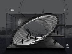 A group of Brazilian architects has sent us these images of a conceptual, mobile gallery, designed to travel along the River Thames in London. The project was developed for a contest organized by the architecture agency Arquitectum, called London by Architecture Design, London Architecture, Concept Architecture, Landscape Architecture, Landscape Design, Architecture Portfolio, Building Architecture, Auditorium Architecture, Architecture Colleges