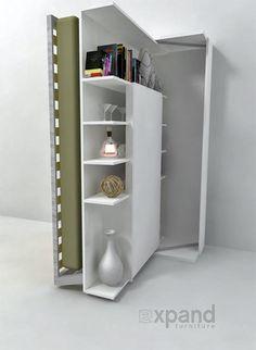 Revolving Bookshelf Wall Bed