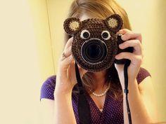 Bear Camera Buddy - Camera Lens Accessory by WyandotteWears on Etsy, $13.00