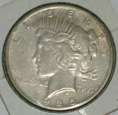 1920s  Peace dollar coin in Very Nice by DrewsCollectibles on Etsy, $35.00