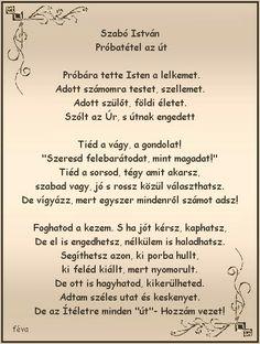 Szabó István: Próbatétel maz út..