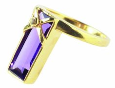 Shard Cross Ring with Amethyst and Diamond - Rings - Shop