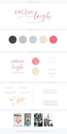 Brand Reveal: Carrie Leigh Photography | August + White | Brand Board | Brand Design