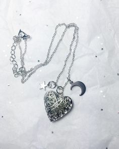 Glow-in-the-Dark Heart Star Moon Necklace - Pin this for later!