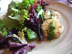 baked Andante Dairy goat cheese and garden lettuce salad - Chez Panisse signature salad