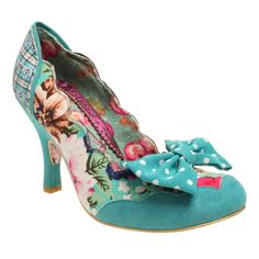 NEW IRREGULAR CHOICE *BEACH TRIP* SCALLOPED-DITSY FLORAL HEELS-UK Size 4-5-6-7-8 in Clothes, Shoes & Accessories | eBay