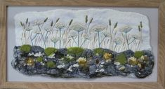 Felt Textile art of Peak District landscape dry stone wall with Cow Parsley , by Derbyshire artist Lynn Comley (UpandDownDale) Felt Pictures, Wet Felting, Needle Felting, Mixed Media Artwork, Tapestry Weaving, Textile Artists, Felt Art, Fabric Art, Embroidery Stitches