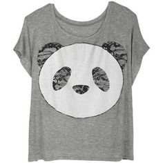 Lace Panda Tee...I want one of these shirts