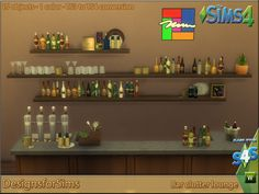 TS3 To TS4 Conversion – Bar lounge clutter | Designs for Sims | Sims 4 Updates -♦- Sims 4 Finds & Sims 4 Must Haves -♦- Free Sims 4 Downloads