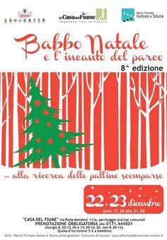 """""""Babbo Natale e l'incanto del Parco"""" il 22 e 23 dicembre alla Casa del Fiume http://www.comune.cuneo.gov.it/news/dettaglio/periodo/2014/12/03/babbo-natale-e-lincanto-del-parco-il-22-e-23-dicembre-alla-casa-del-fiume-1.html"""
