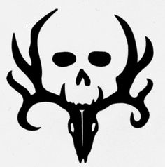 deer skull and antlers sticker - Google Search