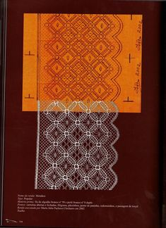 Punto de encuentro de encajeras (pág. 217)   Aprender manualidades es facilisimo.com Bobbin Lacemaking, Bobbin Lace Patterns, Lace Border, Lace Making, String Art, Couture, Textile Art, Tatting, Textiles