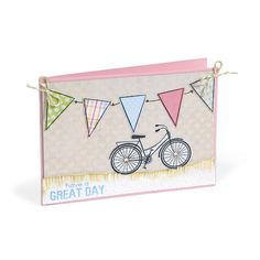 Sizzix.com - Have a Great Day Bicycle Card