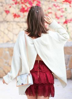 Don't get it twisted! Your weekend style can SO be elevated to bombshell status. Make it Trendy Twist Knot Oversize Sweater featured by Mellowmayo
