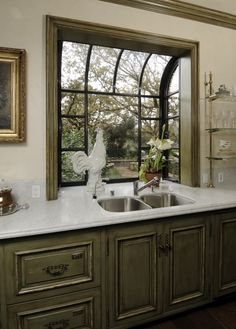Trendy Kitchen Window Over Sink Remodel Ideas Kitchen Garden Window, Greenhouse Kitchen, Window Greenhouse, Kitchen Sink Window, Bathroom Windows, Kitchen Redo, Kitchen Layout, Kitchen Remodel, Kitchen Design