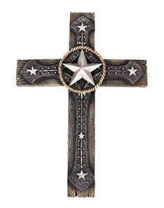 Amazon.com - MORNING STAR Western Style Cross Wall Hanging