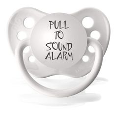 Need this for my little sister Alice! Life would be much funnier like this! If you take a baby's dummy out, they'll cry. So if you pulled the plastic handle on here, the baby would sound it's mouth alarm!
