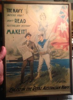 WW1 Australian Navy Recruiting Poster