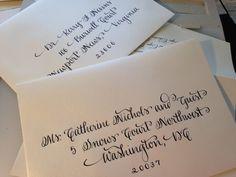 Hand Written Calligraphy Envelopes by CoastalCalligraphy on Etsy