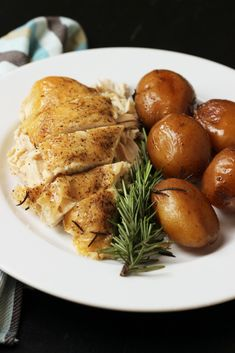 This Rosemary Chicken and Potatoes comes together so quickly in the slow cooker. The hands-free braising results in a tender and delicious meal of chicken and potatoes.