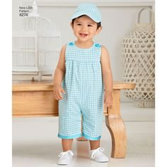 130a66d0a Pattern for Babies' Romper and Hats | Simplicity New Look Patterns, Romper,  Overalls