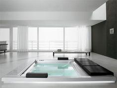 Spa minipiscina encastrable con hidromasaje SEASIDE | T07 Colección Seaside by TEUCO GUZZINI | diseño Talocci Design