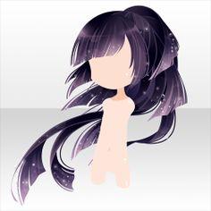 Female Anime Hairstyles, Chibi Hair, Pelo Anime, Manga Hair, Hair Sketch, Fantasy Hair, Hair Reference, How To Draw Hair, Doll Hair