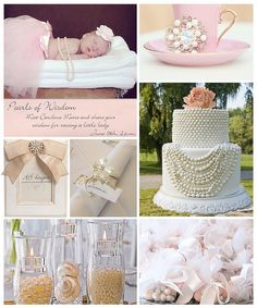1st birthday party theme? pearls/classy/light dusty rose