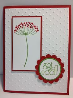 A Summer Silhouettes Get Well Card Stampin' Up! Rubber Stamping Handmade Cards