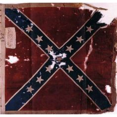 Regimental Flag of the 49th North Carolina Infantry, under which Elijah W. Marlow, fought from 1862-1864. This flag was captured in the Battle of The Crater, 30 July, 1864.