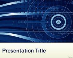 Plantilla PowerPoint de Nanotecnología y fondo azul