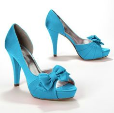A favorite among our customers, this pair of satin peep toe pumps in Malibu  Style Maribelle: http://bit.ly/yd5KAZ