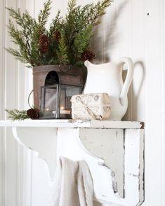 Farmhouse winter home decor