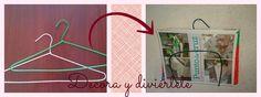 Decora y diviértete: #small&lowcost DIY para hacer un revistero con una percha