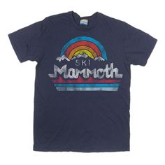 Men's Ski Mammoth T-Shirt | Vintage Mammoth Tee | Cool Logo Shirt | PalmerCash.com