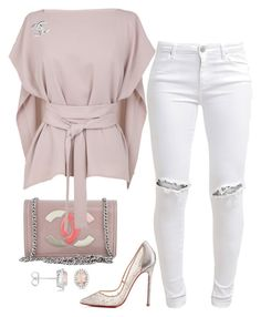 """""""Prissy"""" by fashionkill21 ❤ liked on Polyvore featuring Chanel, TIBI, FiveUnits, Christian Louboutin and Allurez"""