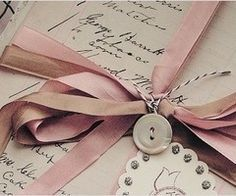tied with pink ribbon Old Letters, Handwritten Letters, Old Love, Vintage Lettering, Lost Art, Rose Cottage, Letter Writing, Mail Art, Simply Beautiful