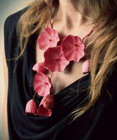 Istruzione rosso carta collana gioielli di di AlessandraFabre