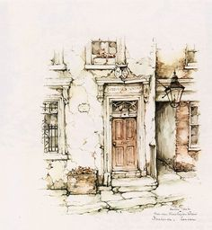 Anton Pieck. #Watercolor #Painting #AntonPieck #ArtJournal #SketchBook #Art #Illustration