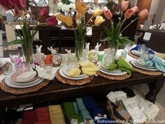 Easter Spring Tablescape
