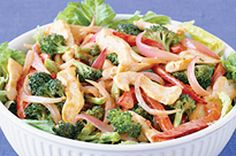 Part stir-fry, part salad - our Peanutty Stir-Fry Salad recipe is the best of both, in one easy recipe. You're going to love the Asian-inspired peanut sauce that brings this salad together.