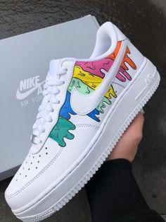 Slime Forces by TA Customs ® Cute Sneakers, Sneakers Mode, Sneakers Fashion, Girls Sneakers, Jordan Shoes Girls, Girls Shoes, Custom Painted Shoes, Custom Vans, Custom Made Shoes