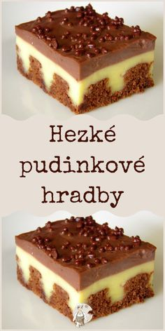 Hezké pudinkové hradby #pudinkové Apple Recipes, Sweet Recipes, Cake Recipes, Tiramisu, Ham, Pavlova, Sweet Tooth, Food And Drink, Sweets