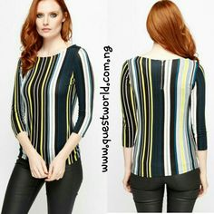 M&S Multi Stripe Zip Back Soft Jersey Top size 12 16 #5500 Enter QWFREEDELIVERY at checkout! Www.questworld.com.ng Pay on delivery in Lagos.Nationwide Delivery