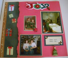 Christmas 1979 page 1 layout - Scrapbook.com