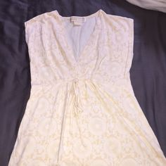 Michael Kors  top Very light beige top draw string on waist size Xs preowned MICHAEL Michael Kors Tops Blouses